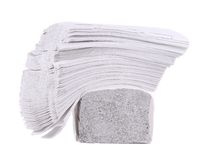 Stack of folded disposable papers. Royalty Free Stock Images