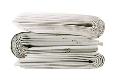 Stack of folded newspapers Royalty Free Stock Photos