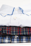 Stack of folded shirts Royalty Free Stock Photography