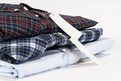 Stack of folded shirts Royalty Free Stock Photo