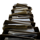 Stack of folder. Isolated high stack of folder Royalty Free Stock Image