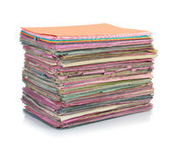 Stack of folder files Stock Photos