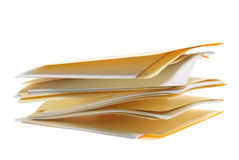 Stack of Folders Stock Photography