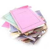Stack of Folders. Isolated stack of folder with shot over white background Stock Photography