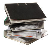 Stack of folders as symbol for lot of work Stock Image