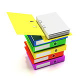 Stack of folders stock illustration