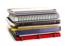 Stack of folders, books, copybooks Stock Photography