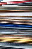 Stack of folders and documents Stock Photos