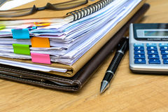Stack of folders and documents Stock Photography