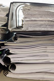 Stack of folders with documents Royalty Free Stock Images