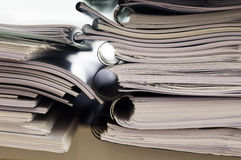 Stack of folders with documents Stock Photos