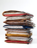 Stack of folders Stock Photo
