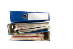 Stack of folders Stock Images