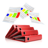 Stack of folders and paper Royalty Free Stock Photo
