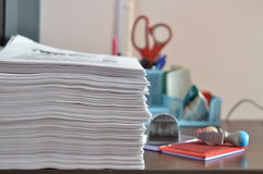 Stack of folders Royalty Free Stock Images