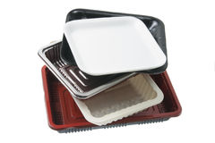 Stack of Food Trays Royalty Free Stock Images