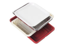 Stack of Food Trays Stock Photos