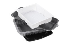 Stack of Food Trays Royalty Free Stock Photography