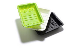 Stack of Food Trays Stock Photo