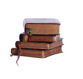 Stack of four aged books Royalty Free Stock Photography