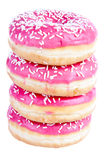 Stack of four donuts Stock Photos