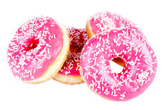 Stack of four donuts Royalty Free Stock Images