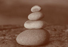 Stack of four stones Royalty Free Stock Images