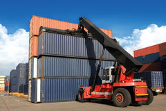Stack of Freight Containers Stock Images