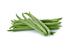 Stack of French beans on white Stock Image