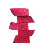 Stack of fresh beet segments. Royalty Free Stock Images