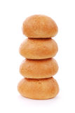Stack of fresh buns isolated Royalty Free Stock Images
