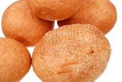 Stack of fresh buns isolated Royalty Free Stock Photo