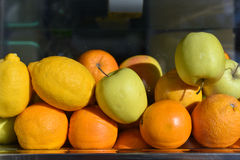 Stack of fresh fruits Stock Photos