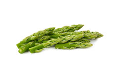 Stack of fresh green asparagus on white Royalty Free Stock Photography