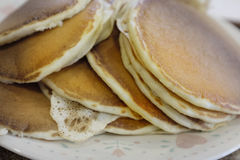 Stack of Fresh Homemade Pancakes Breakfast Food Royalty Free Stock Images