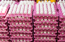 Stack Of Fresh Organic Eggs At A Street Market. Stack Of Fresh Organic Eggs At A Turkish Street Market In Istanbul, Turkey Stock Image