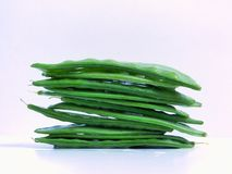 A stack of fresh snow peas royalty free stock image