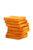Stack of fresh toasts isolated Royalty Free Stock Photography