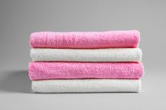 Stack of fresh towels royalty free stock photography