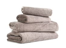 Stack of fresh towels royalty free stock photo