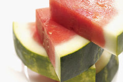 Stack Of Fresh Watermelon Slices Stock Images