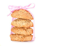 A stack of freshly baked biscuit of ribbon Royalty Free Stock Images