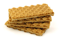 Stack of freshly baked traditional Dutch waffles Royalty Free Stock Photography