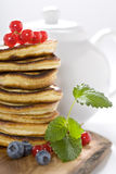 Stack of freshly prepared pancakes Royalty Free Stock Image