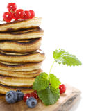 Stack of freshly prepared pancakes Royalty Free Stock Photography