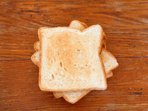 Stack of freshly prepared toasts Stock Image