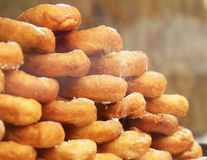 A stack of fried donuts Stock Photo
