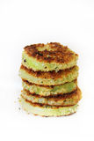 Stack of fried green tomatoes Stock Image