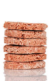 Stack of frozen hamburgers Royalty Free Stock Image
