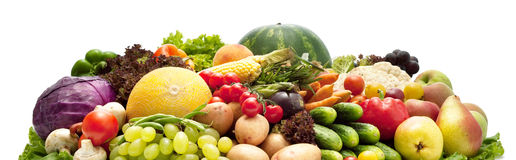 Stack of Fruits and Vegetables royalty free stock images